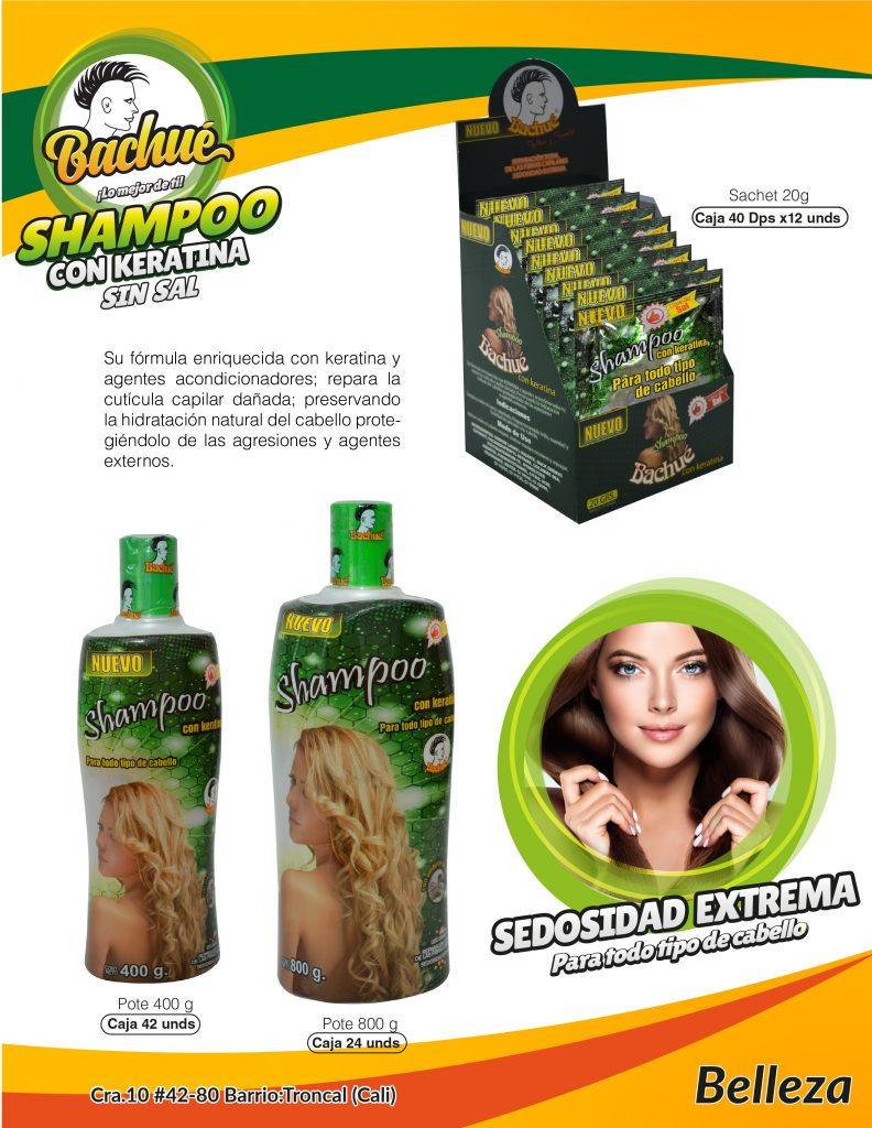 shampoo con keratina bachue