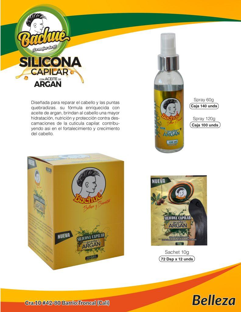 Silicona con aceite de Argan Bachue, Colombia