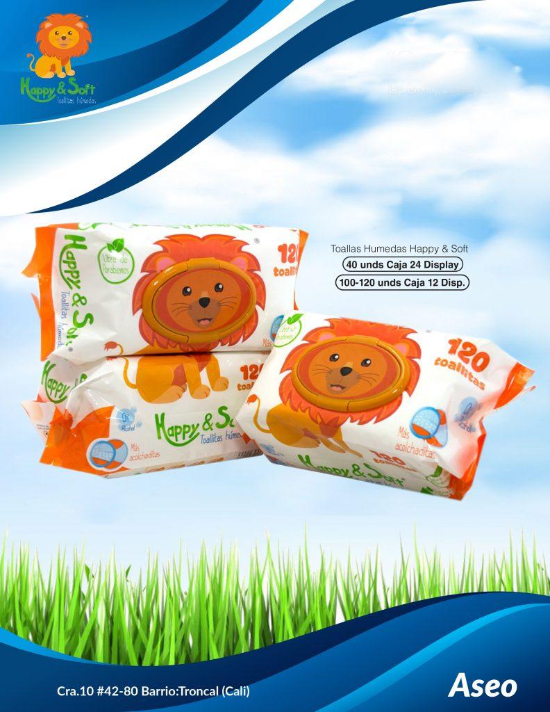 Pañitos Humedos Happy & soft