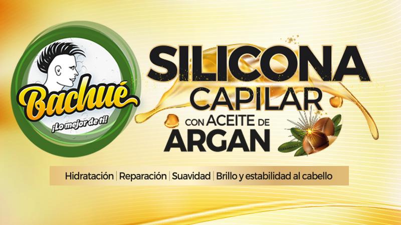 SILICONA CAPILAR CON ACEITE DE ARGAN BACHUE BANNER
